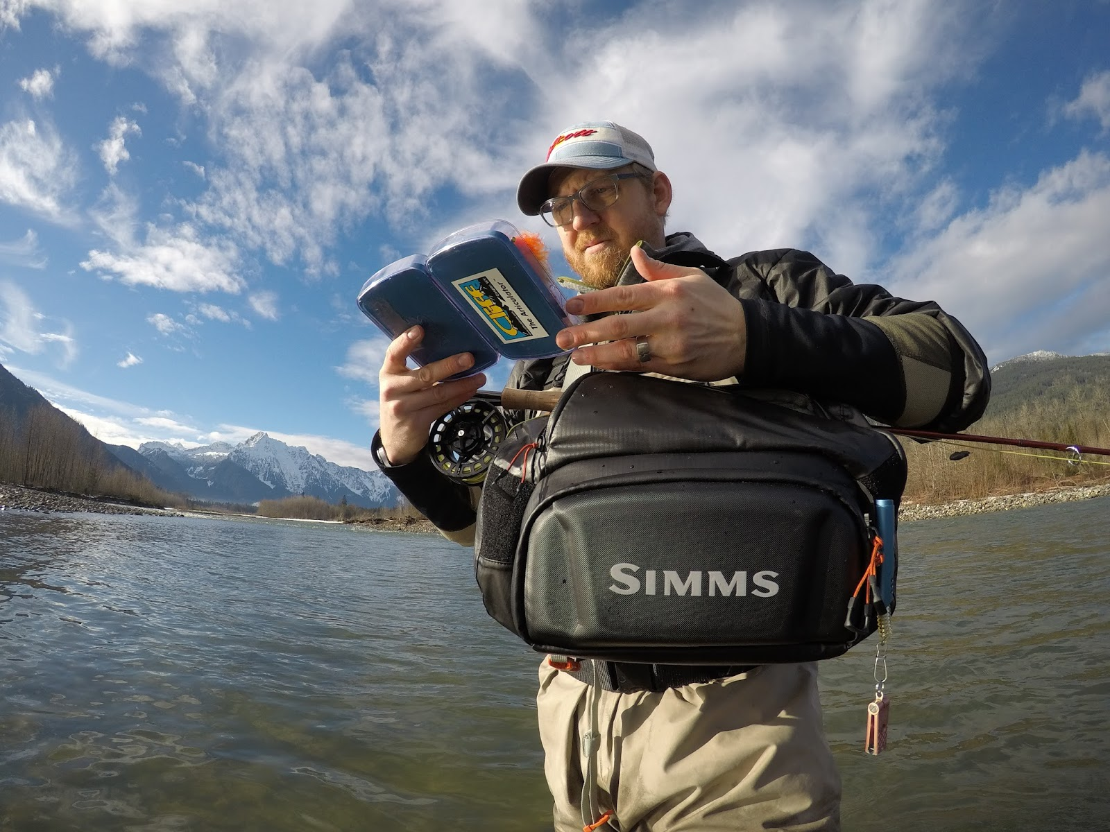 Simms g4 pro sling pack for Simms fly fishing