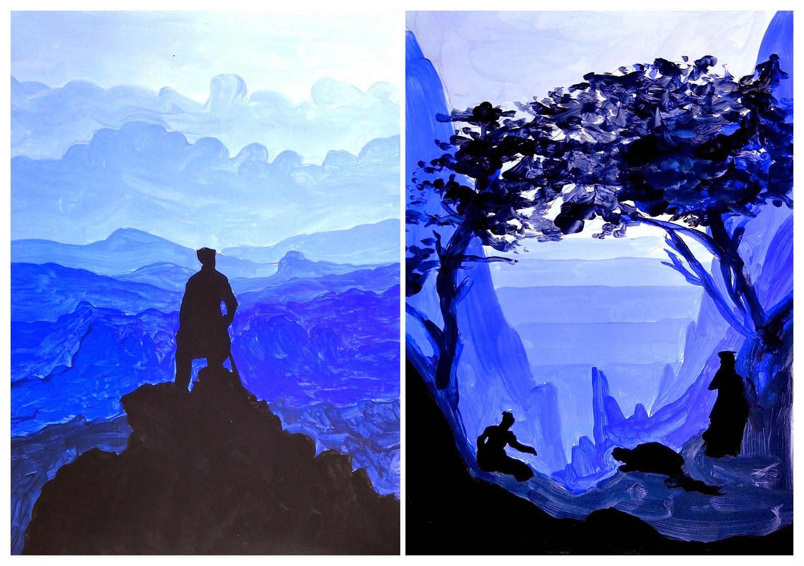Monochromatic Landscape Painting   www.pixshark.com ...