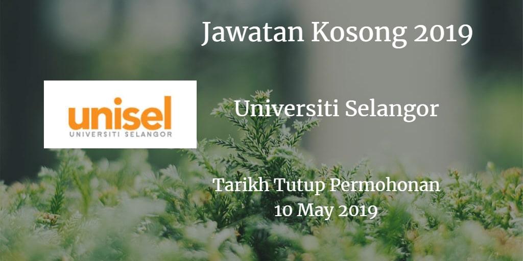 Jawatan Kosong UNISEL 10 May 2019