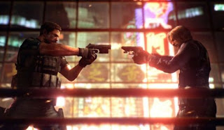 Leon Kennedy and Chris Redfield showdown? Maaaaaaybe...