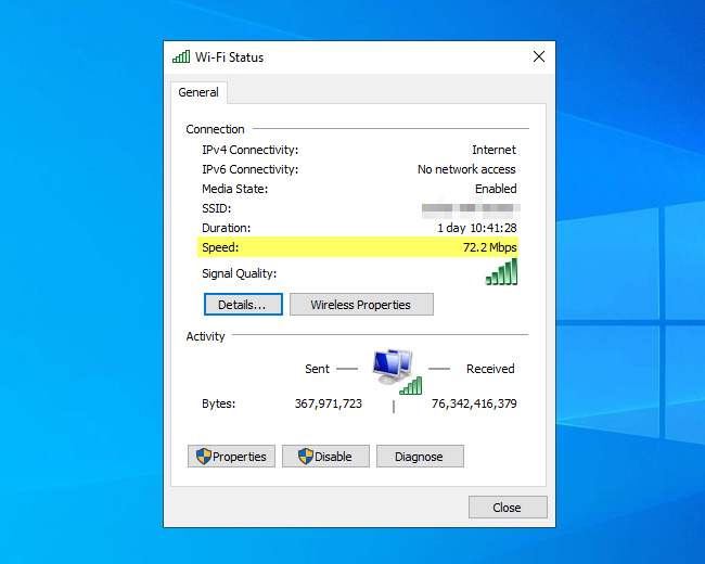 Cara Mengetahui Kecepatan Koneksi Wi-Fi dan Ethernet di Windows 10 dengan PowerShell