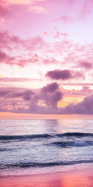 Phonh cảnh hoàng hôn trên biển