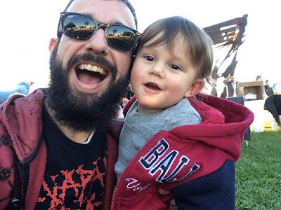 Papai Rockeiro e o filho Ben