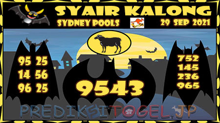 Syair Kalong Sidney Rabu 29 September 2021