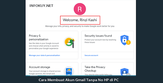 Cara Membuat Akun Gmail Tanpa No HP di PC #3