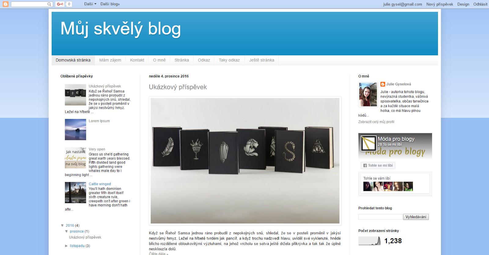 Nemějte tří sloupcový blog