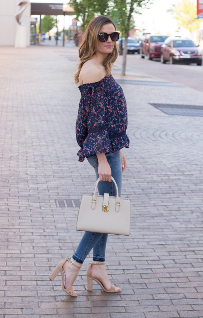 Skier are blue floral top #stitchfix