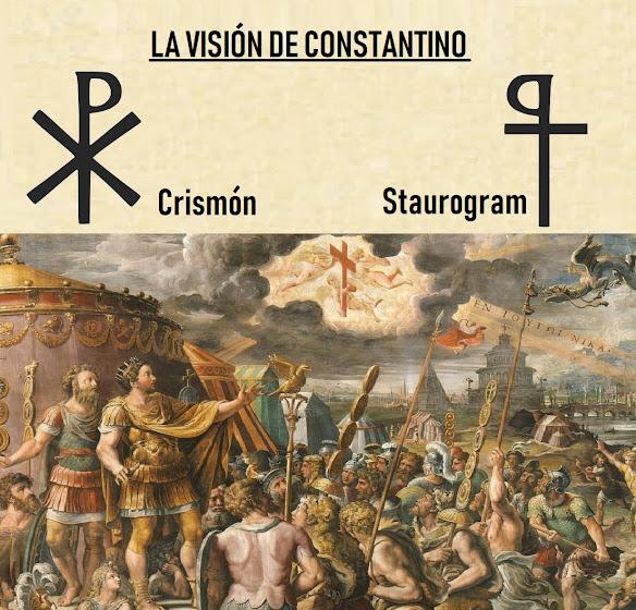 Constantino I. Cristianismo imperio romano. Crismón.