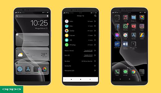 Keren! Tema iOS |  iPhone 14 3D Dark Mode Untuk Oppo Dan Realme (Support ColorOs 3, 5, 6 dan 7)