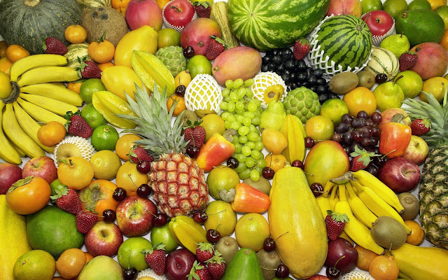 bermacam-macam buah tropis