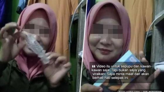 Heboh! Video Cewek Berjilbab Ajarkan Cara Memakai Kondom Ini Jadi Viral