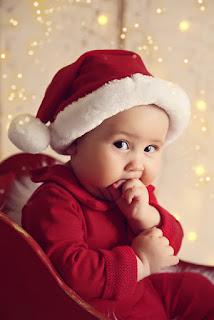 ensaio de natal do bebê