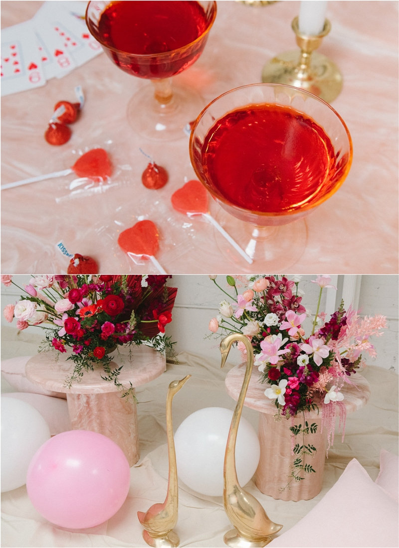 Une fête de la Saint-Valentin pour deux - une fête étonnante et créative à célébrer de manière discrète, pour un petit mariage ou fiançailles!