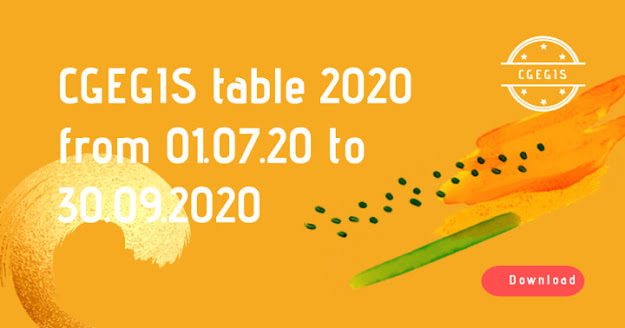 CGEGIS Table from July to Sept 2020 is now available to download