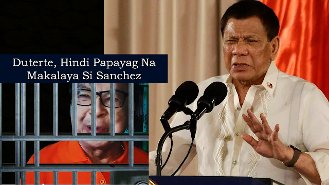 "In the controversy surrounding the posible release of convicted Calauan, Laguna former mayor Antonio Sanchez, President Rodrigo Duterte, through spokesperson Salvador Panelo, said that he will not allow the convicted mayor to be out of jail.        Ads    President Rodrigo Duterte will not allow the release of former Calauan, Laguna Mayor Antonio Sanchez from prison based on a 2013 law granting the application of Good Conduct Time Allowances (GCTA) for prisoners.     Presidential Spokesperson Salvador Panelo explained that Sanchez is not eligible to avail the provisions of the Republic Act 10592 and as a chief enforcer of the law, the president will have to follow what the law says.     Malacañang also supported the Justice Department's statement that habitual delinquents and those convicted of heinous crimes will not benefit from the law.    ""Thus, the inevitable conclusion is that all those convicted of a heinous crime, including Mr. Antonio Sanchez, would be ineligible and disqualified from availing the benefits of the GCTA,"" Panelo said.    Panelo being the former mayor's legal counsel during that time, however, denied any involvement on moves for the release of Sanchez from prison.    Senator Bong Go has one piece of advice for rape convict former Caluan, Laguna mayor Antonio Sanchez: stay in jail and live longer.    For Go, Sanchez should forget about leaving New Bilibid Prison, saying that the facility could be the safer place for him.      Go's stand on the issue differed from his party mate and fellow Senator Ronald dela Rosa.    Dela Rosa has said Sanchez should be given a second chance if found out that he is eligible to be released.    Dela Rosa pointed that the current scenario could have been avoided if the country has the death penalty law.  Ads          Sponsored Links    Celebrities share their thoughts on social media after reports of the possible 'early release' of rape-slay convict and former Calauan, Laguna Mayor Antonio Sanchez.      Sanchez was sentenced to seven life terms or 360 years of imprisonment. He was accused of killing UPLB students Eileen Sarmienta and Allan Gomez.   ""Mas madami namang ibang deserving ng second chance.. yung nagnakaw ng cellphone o delata para may pangkain ang pamilya niya.. madaming kasong ganun sa kulungan.. di hamak na mas deserving sa second chance kumpara sa proven guilty na rapist at killer,"" TV host Bianca Gonzales said on Twitter.   Some even recalled how the celebrated case became part of their childhood like film director Quark Henares.  ""That's when i first heard about pedophilia and gang rape, and when I realized the world was not a nice place. I got a physical reaction finding out he was freed,"" Henares said in a tweet.   ""If something like that happens to one of your relatives or daughters, I am sure hindi nyo yan sasabihin. Nakakatakot malamang may ganyang klase ng tao na never nagkaron ng remorse na maaaring malayang makakagalaw,"" actress Sunshine Cruz said on Facebook.  Angel Locsin commented on director Antoinette Jadaone's post recalling the timeline of the 1993 Sarmienta-Gomez case. She described it as pure evil.   ©2019 THOUGHTSKOTO"