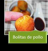 BOLITAS DE POLLO