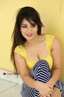 Cute Telugu Actress Shunaya Solanki High Definition Spicy Pos in Yellow Top and Skirt  0336.JPG