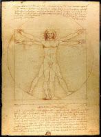 Vitruvian Man, by Leonardo da Vinci.