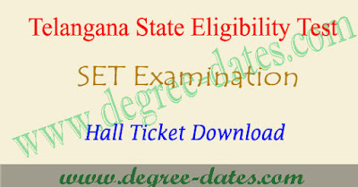 TS SET 2017 hall ticket download Telangana set admit card