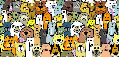 Q 12. Unicorns seem to be friends with everyone! How many unicorns are hanging out with these dogs here?