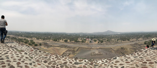Panoramic view of the Avenue of Dead from pyramid of Sun