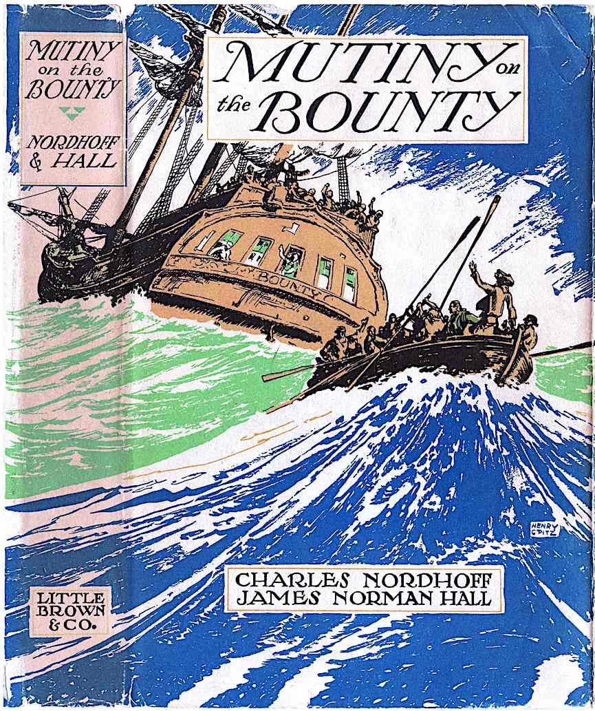 Henry C. Pitz color illustration for Mutiny on the bounty