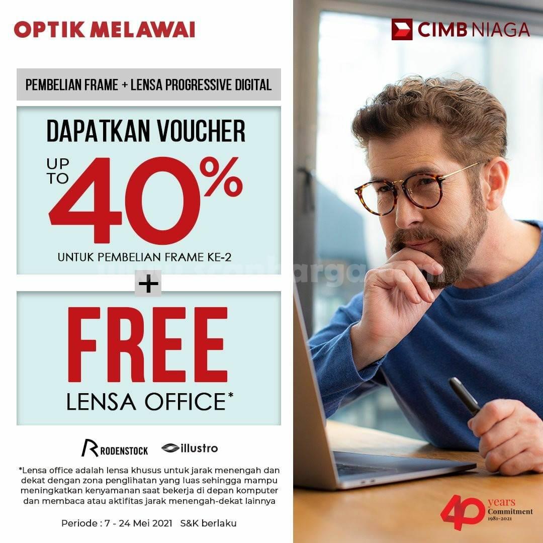 Promo OPTIK MELAWAI Bonus Voucher 40% dengan Kartu Kredit CIMB NIAGA