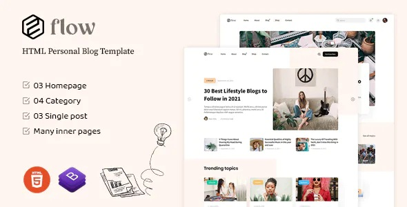 Best HTML Personal Blog Template