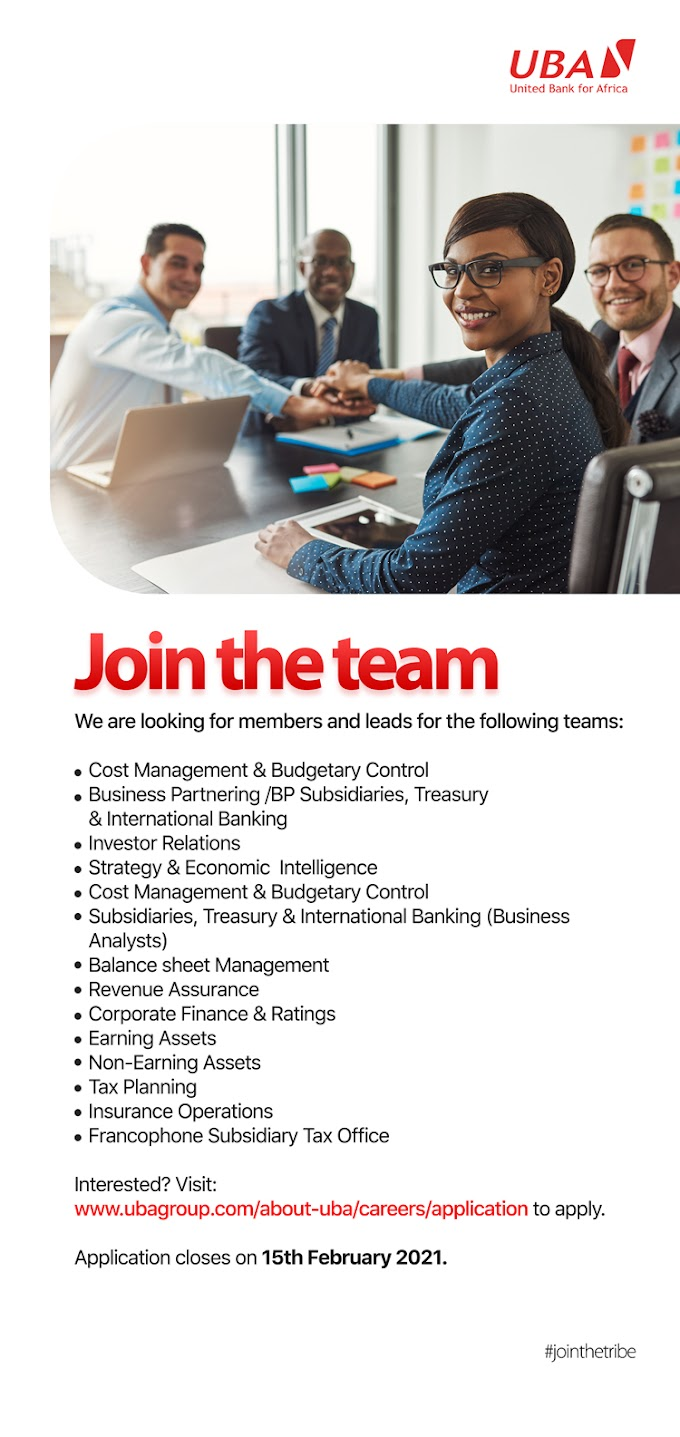 Multiple Job Openings At United Bank for Africa (UBA) - How To Apply & Application Deadline (Image Guides Also Available)