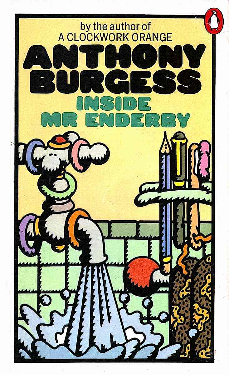 "a Peter Bentley illustration of a flowing bathroom tap for the Anthony Burgess book ""Inside Mr Enderby"""