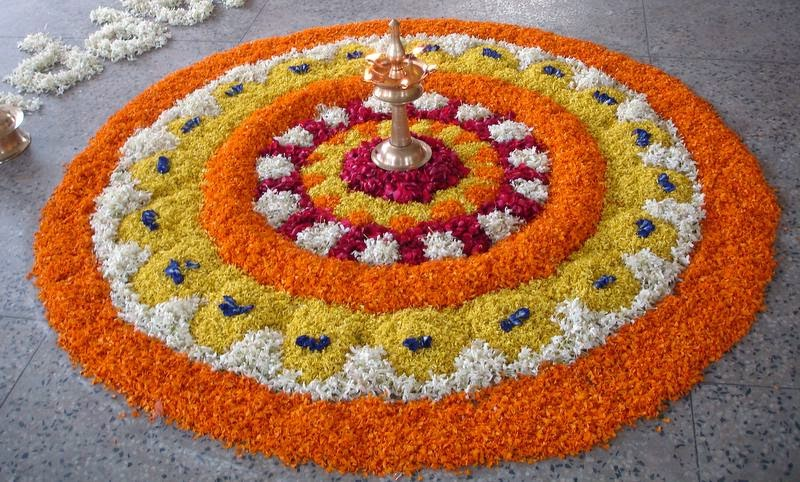 The traditional onam pokkalam designs