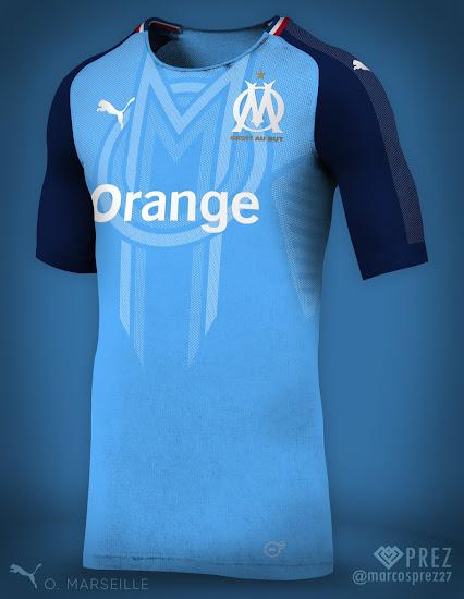 5404fcbe3f8 No More Adidas - Puma Olympique Marseille 18-19 Concept Kit by Prez ...