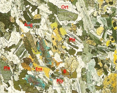 Diorit dalam Sayatan Tipis
