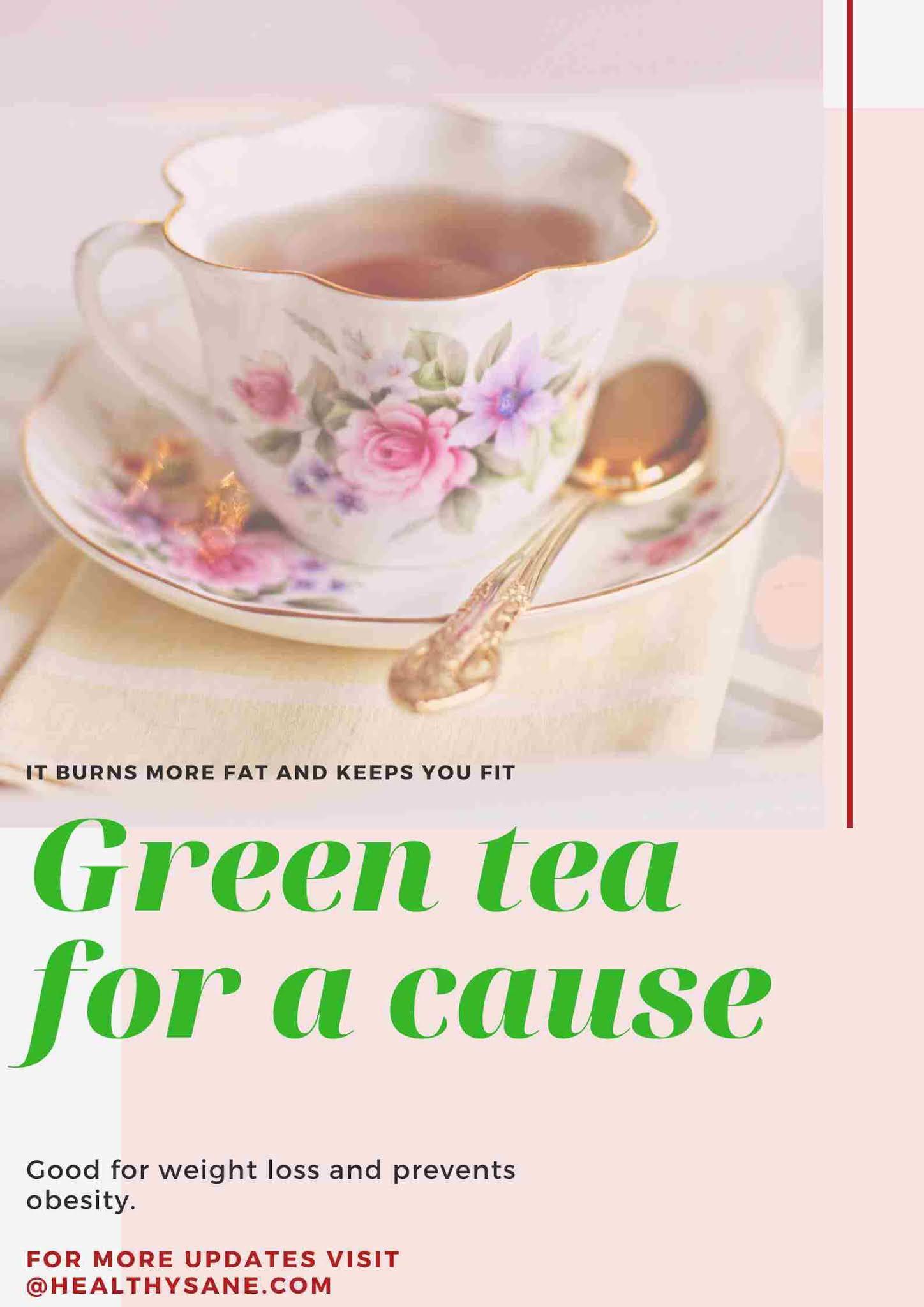 Green tea for weight loss, diet, fitness, vegan diet