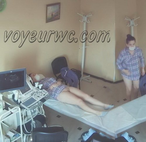 Girls at the doctor's appointment for ultrasound the  pelvis via the transvaginal approach (Vaginal Ultrasound SpyCam 16-25)