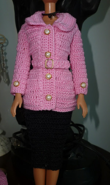 Casaco de Crochê Para Boneca Barbie  Criado por Pecunia MM