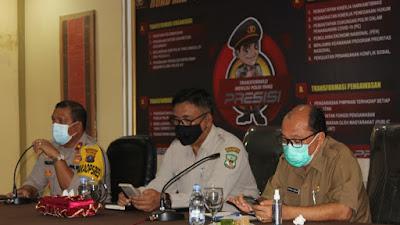 Polres Pematangsiantar Adakan Rapat Koordinasi Pelaksanaan Vaksinasi Massal