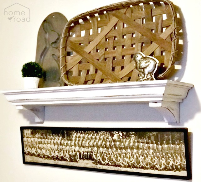 Farmhouse Styled Wall Mantel
