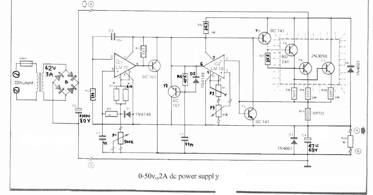 050V 2A Bench Power Supply Circuit Diagram | Super