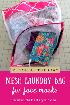 Mesh Laundry Bag Sewing Project for Washing Cloth Fabric Face Masks