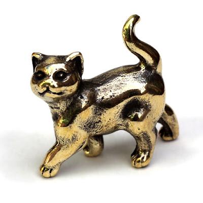 """Миниатюрная бронзовая фигурка """"Котенок"""" (2) Необычная статуэтка ручной работы"""