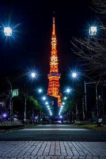 東京タワー,芝公園,ライトアップ