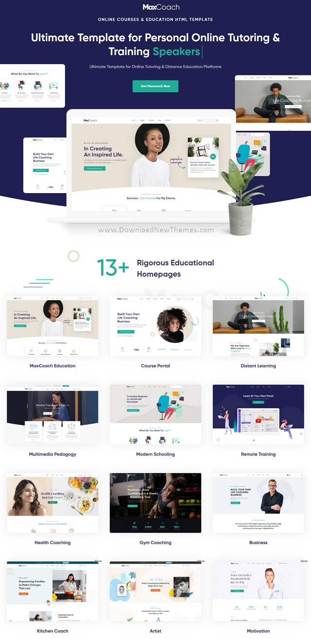 MaxCoach - Education Bootstrap Template
