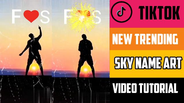Sky Name Art Video