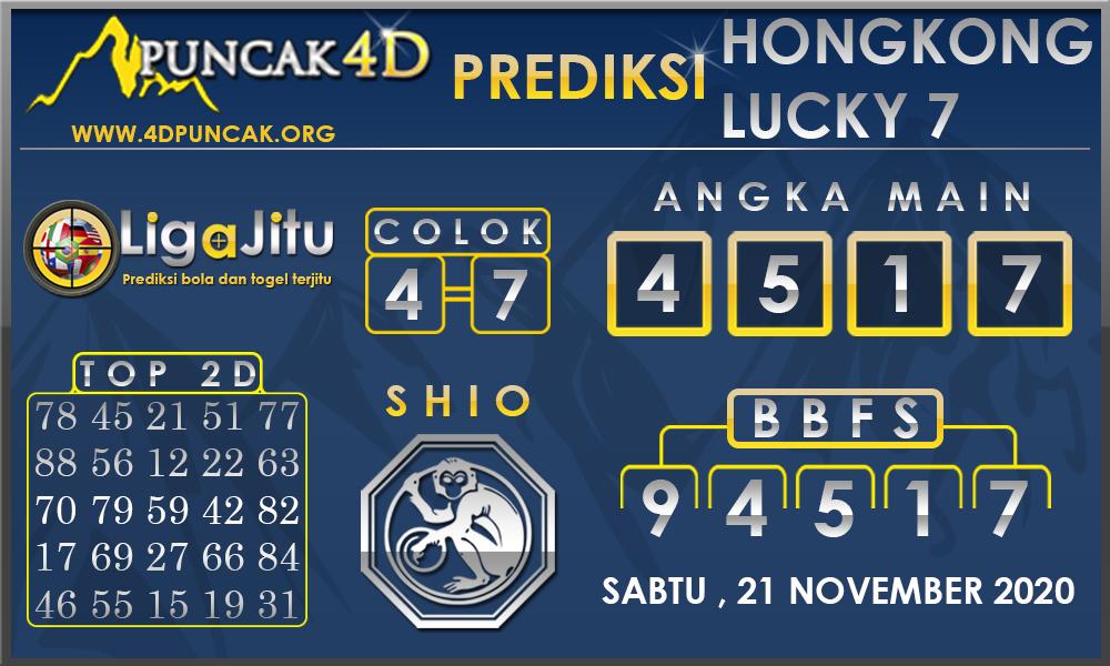 PREDIKSI TOGEL HONGKONG LUCKY 7 PUNCAK4D 21 NOVEMBER 2020