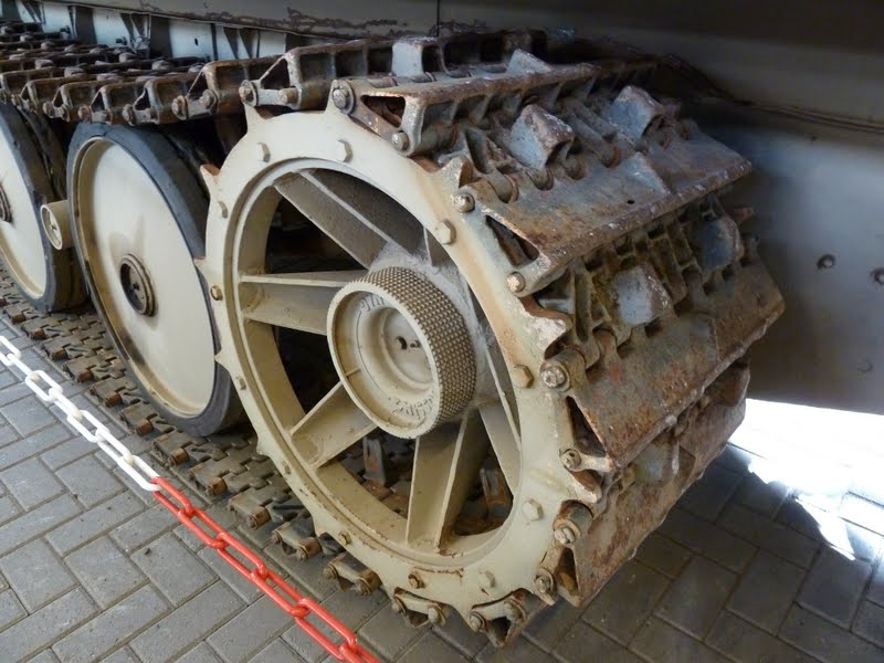 Close up of tracks of the Schwerer Wehrmachtschlepper at Overloon Netherlands