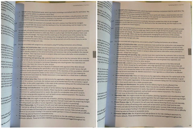 Photographs of a page from an A4 text book showing a page of text
