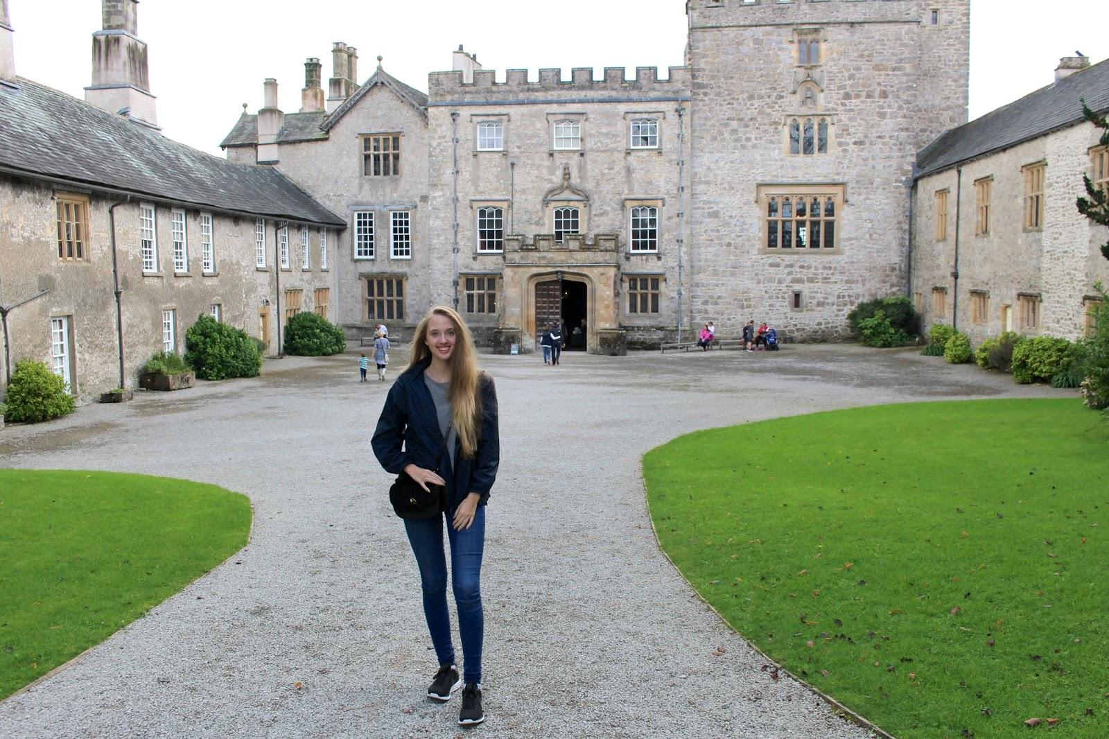 Travel blogger visit to Lake District Sizergh Castle