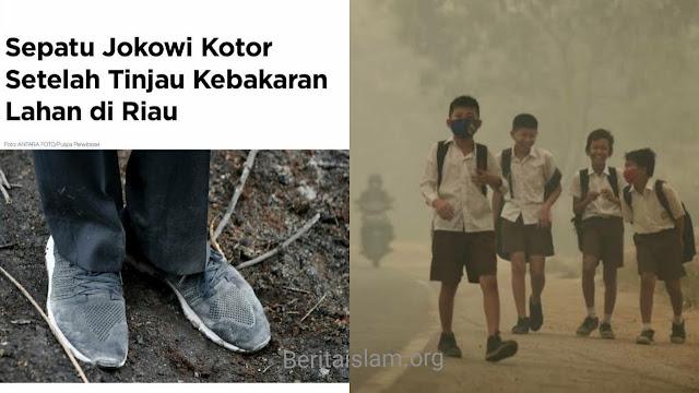 Greenpeace: Paru-Paru Warga Lebih Kotor daripada Sepatu Jokowi