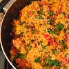 Smoked Sausage and Red Rice Skillet Recipe